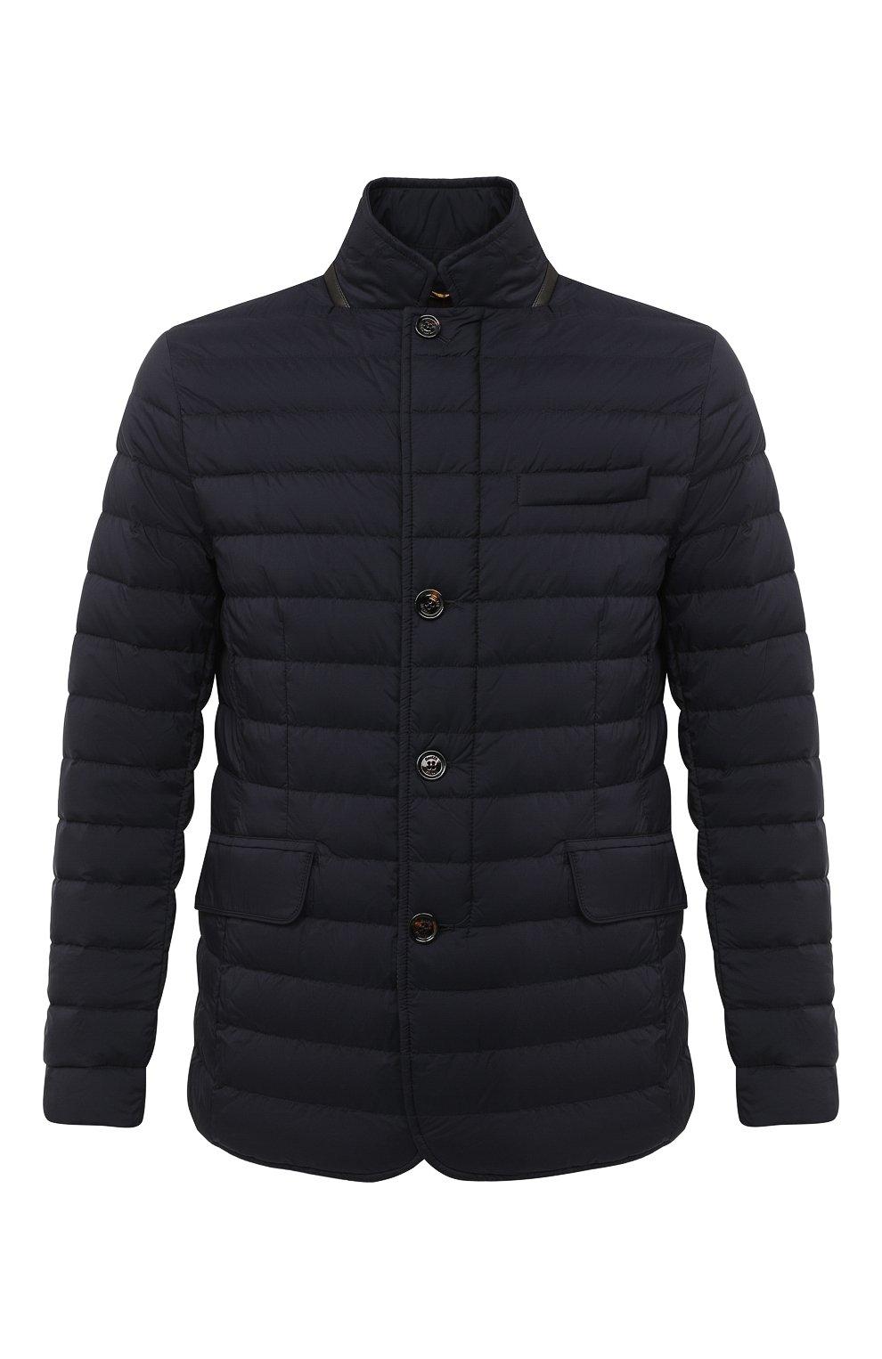 Мужская пуховая куртка zavyer-s3 MOORER темно-синего цвета, арт. ZAVYER-S3/A20M360REFL   Фото 1