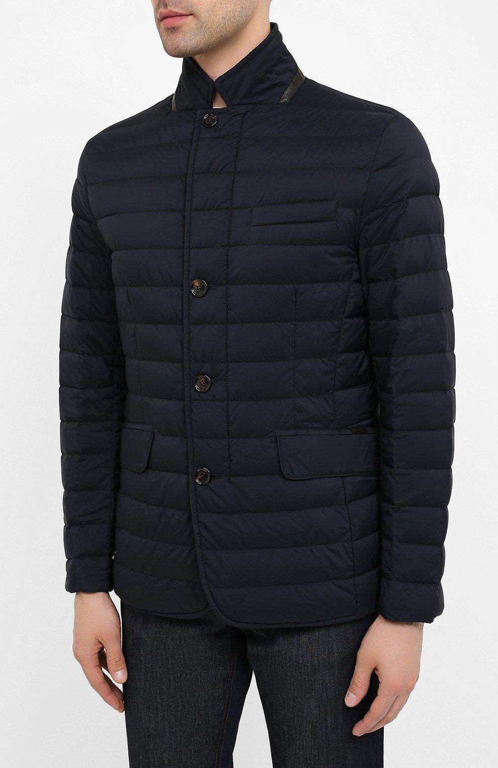 Мужская пуховая куртка zavyer-s3 MOORER темно-синего цвета, арт. ZAVYER-S3/A20M360REFL   Фото 3