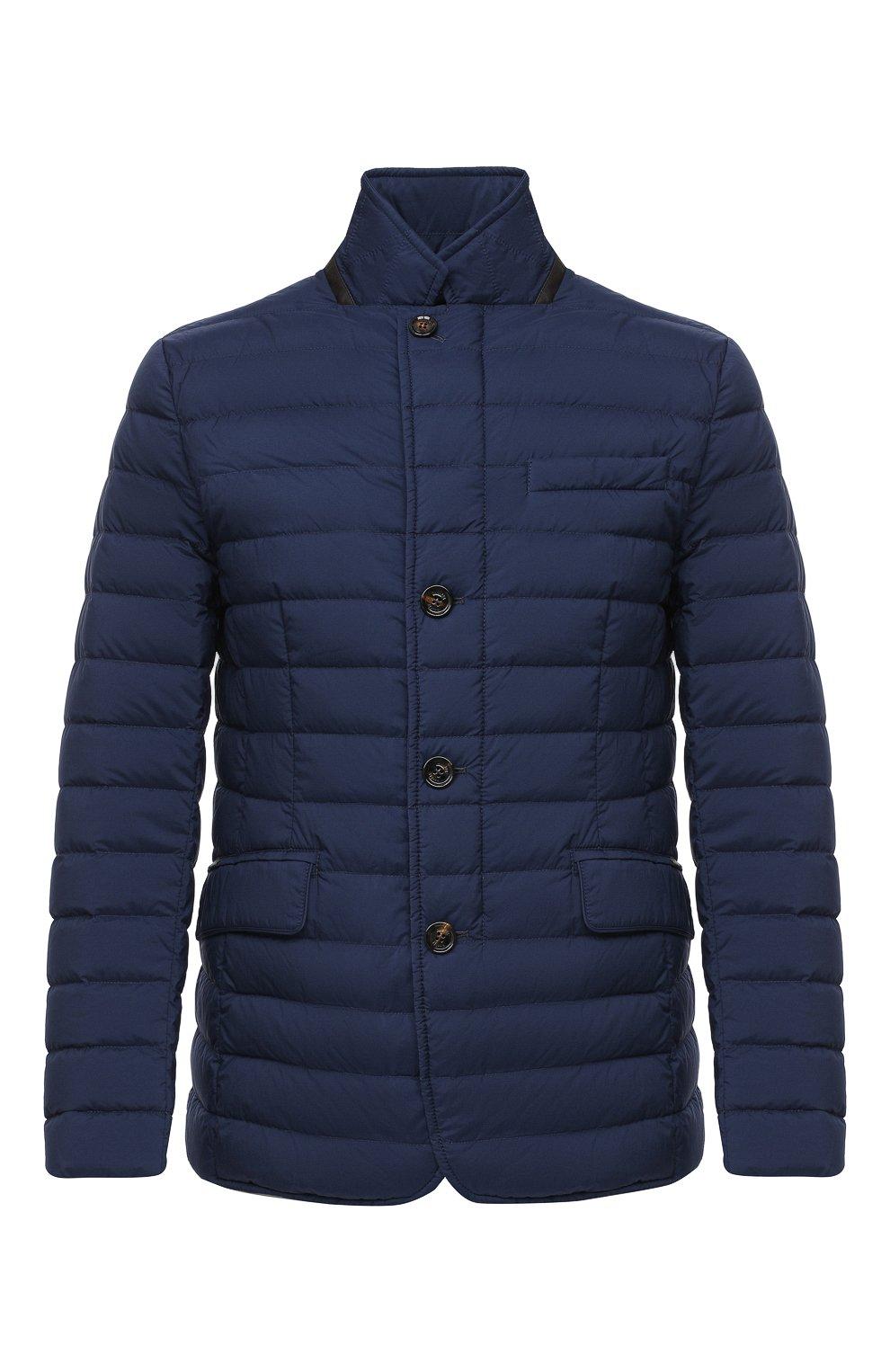 Мужская пуховая куртка zavyer-s3 MOORER синего цвета, арт. ZAVYER-S3/A20M360REFL   Фото 1