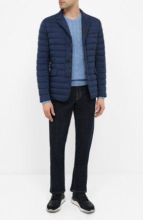 Мужская пуховая куртка zavyer-s3 MOORER синего цвета, арт. ZAVYER-S3/A20M360REFL | Фото 2