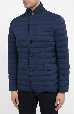 Мужская пуховая куртка zavyer-s3 MOORER синего цвета, арт. ZAVYER-S3/A20M360REFL   Фото 3