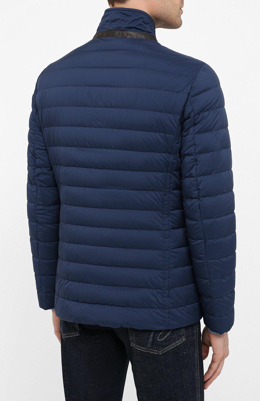 Мужская пуховая куртка zavyer-s3 MOORER синего цвета, арт. ZAVYER-S3/A20M360REFL   Фото 4