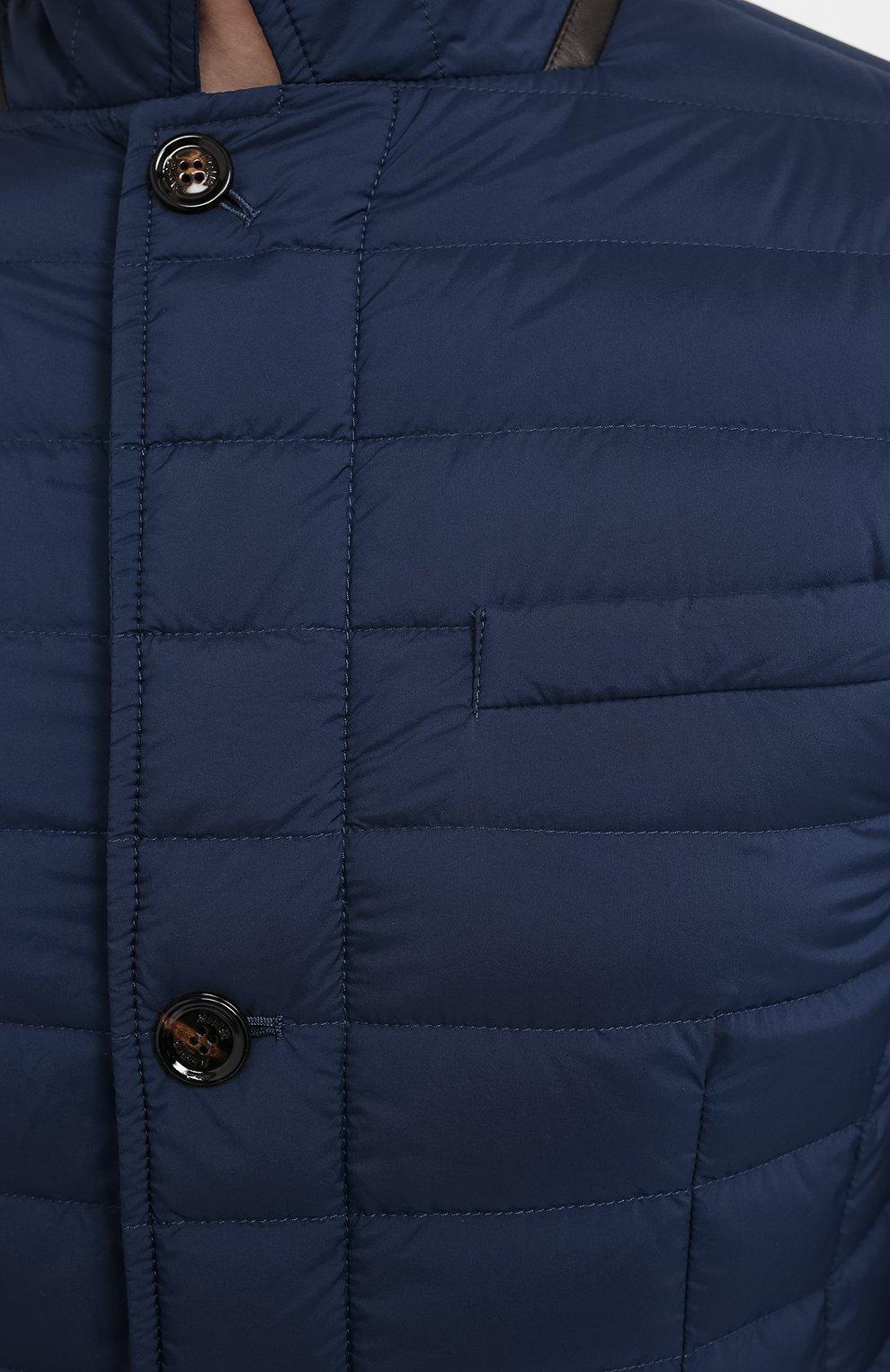 Мужская пуховая куртка zavyer-s3 MOORER синего цвета, арт. ZAVYER-S3/A20M360REFL   Фото 5