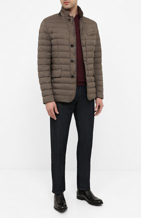 Мужская пуховая куртка zavyer-s3 MOORER бежевого цвета, арт. ZAVYER-S3/A20M360REFL | Фото 2