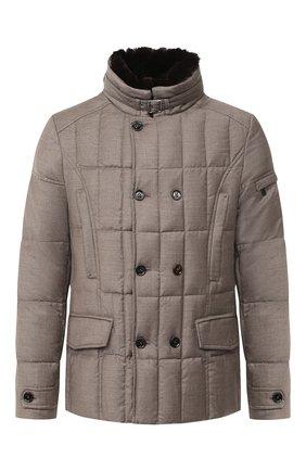 Мужская пуховая куртка siro-l MOORER бежевого цвета, арт. SIR0-L/A20M021LANA | Фото 1