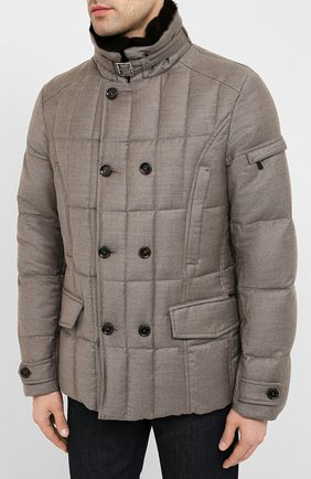 Мужская пуховая куртка siro-l MOORER бежевого цвета, арт. SIR0-L/A20M021LANA | Фото 3