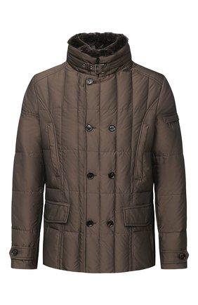 Мужская пуховая куртка siro-km MOORER коричневого цвета, арт. SIR0-KM/A20M020SHA1 | Фото 1