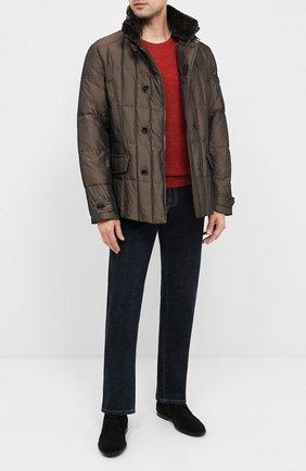 Мужская пуховая куртка siro-km MOORER коричневого цвета, арт. SIR0-KM/A20M020SHA1 | Фото 2