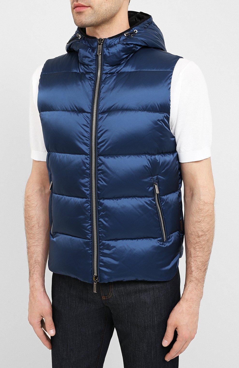 Мужской пуховый жилет perseo-sh MOORER синего цвета, арт. PERSE0-SH/A20M470N0TE | Фото 3