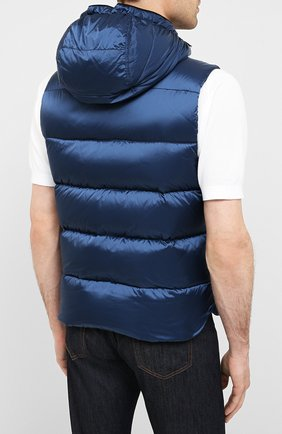 Мужской пуховый жилет perseo-sh MOORER синего цвета, арт. PERSE0-SH/A20M470N0TE | Фото 4