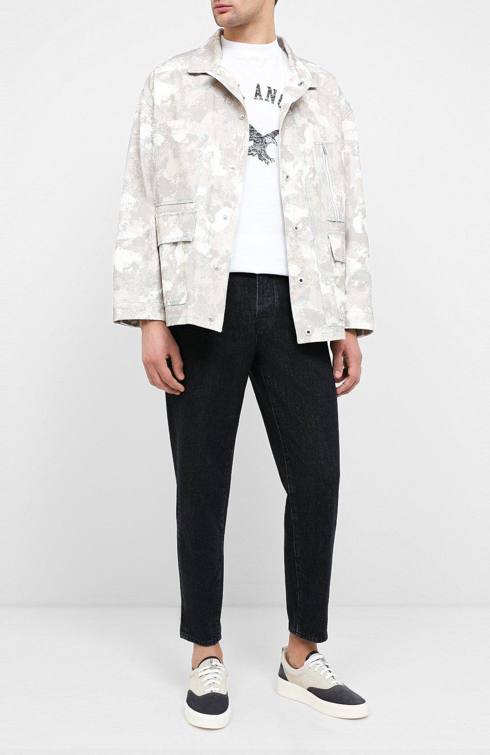 Мужская джинсовая куртка MARCELO BURLON бежевого цвета, арт. CMEL009E20FAB001 | Фото 2