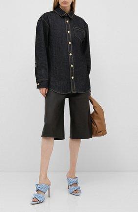 Женская джинсовая рубашка BOTTEGA VENETA синего цвета, арт. 617449/VKLK0 | Фото 2