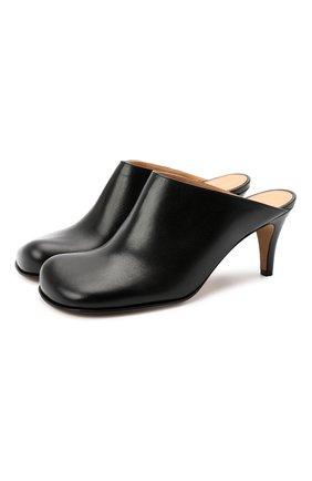 Женские кожаные мюли BOTTEGA VENETA черного цвета, арт. 578329/VBPJ0 | Фото 1