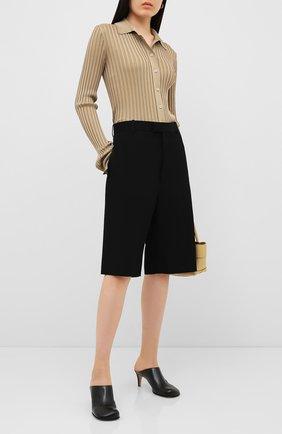 Женские кожаные мюли BOTTEGA VENETA черного цвета, арт. 578329/VBPJ0 | Фото 2
