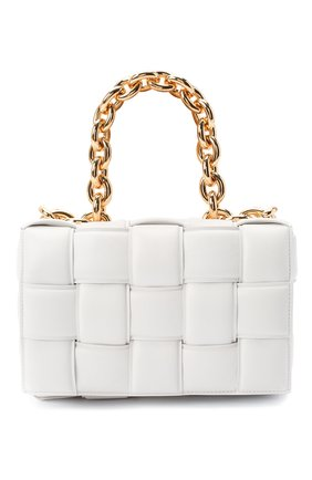 Женская сумка chain cassette BOTTEGA VENETA белого цвета, арт. 631421/VBWZ0 | Фото 1