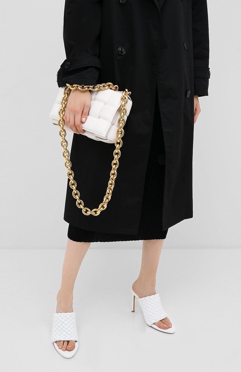 Женская сумка chain cassette BOTTEGA VENETA белого цвета, арт. 631421/VBWZ0 | Фото 2