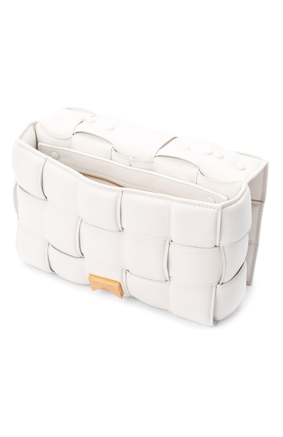 Женская сумка chain cassette BOTTEGA VENETA белого цвета, арт. 631421/VBWZ0 | Фото 4