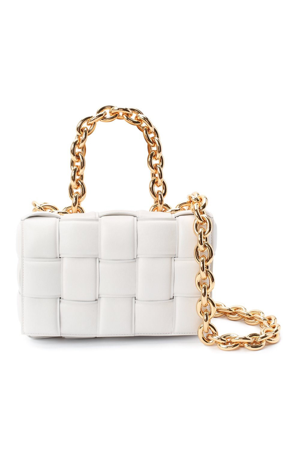 Женская сумка chain cassette BOTTEGA VENETA белого цвета, арт. 631421/VBWZ0 | Фото 6