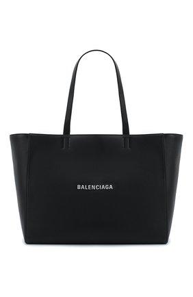 Мужская кожаная сумка-тоут everyday BALENCIAGA черного цвета, арт. 618284/DLQ4N | Фото 1