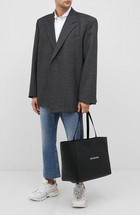 Мужская кожаная сумка-тоут everyday BALENCIAGA черного цвета, арт. 618284/DLQ4N | Фото 2