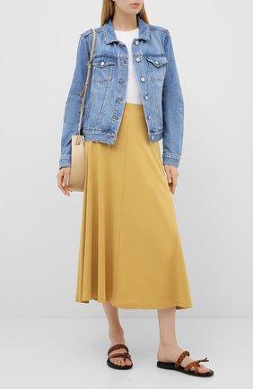 Женская джинсовая куртка PAIGE голубого цвета, арт. 5435712-8236 | Фото 2