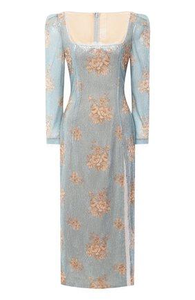 Женское платье-миди ULYANA SERGEENKO голубого цвета, арт. ABM012SS20P (0284т20) | Фото 1