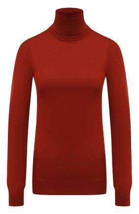 Женская кашемировая водолазка LORO PIANA красного цвета, арт. FAC4672 | Фото 1 (Материал внешний: Шерсть, Кашемир; Длина (для топов): Стандартные; Рукава: Длинные; Стили: Кэжуэл; Женское Кросс-КТ: Водолазка-одежда)