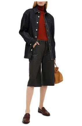 Женская кашемировая водолазка LORO PIANA красного цвета, арт. FAC4672 | Фото 2 (Материал внешний: Шерсть, Кашемир; Длина (для топов): Стандартные; Рукава: Длинные; Стили: Кэжуэл; Женское Кросс-КТ: Водолазка-одежда)