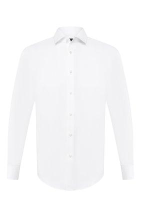 Мужская хлопковая сорочка BOSS белого цвета, арт. 50433293 | Фото 1