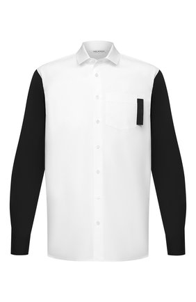Мужская хлопковая рубашка NEIL BARRETT белого цвета, арт. PBCM1435C/P106C | Фото 1