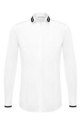 Мужская хлопковая рубашка NEIL BARRETT белого цвета, арт. PBCM1389C/P013S | Фото 1