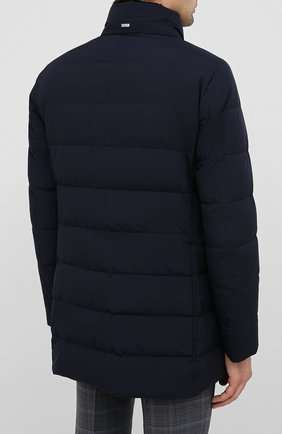 Мужская пуховик HERNO темно-синего цвета, арт. PI048UR/12015 | Фото 4
