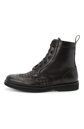 Детские кожаные ботинки с брогированием RONDINELLA черного цвета, арт. 11568F/662/34-36 | Фото 2
