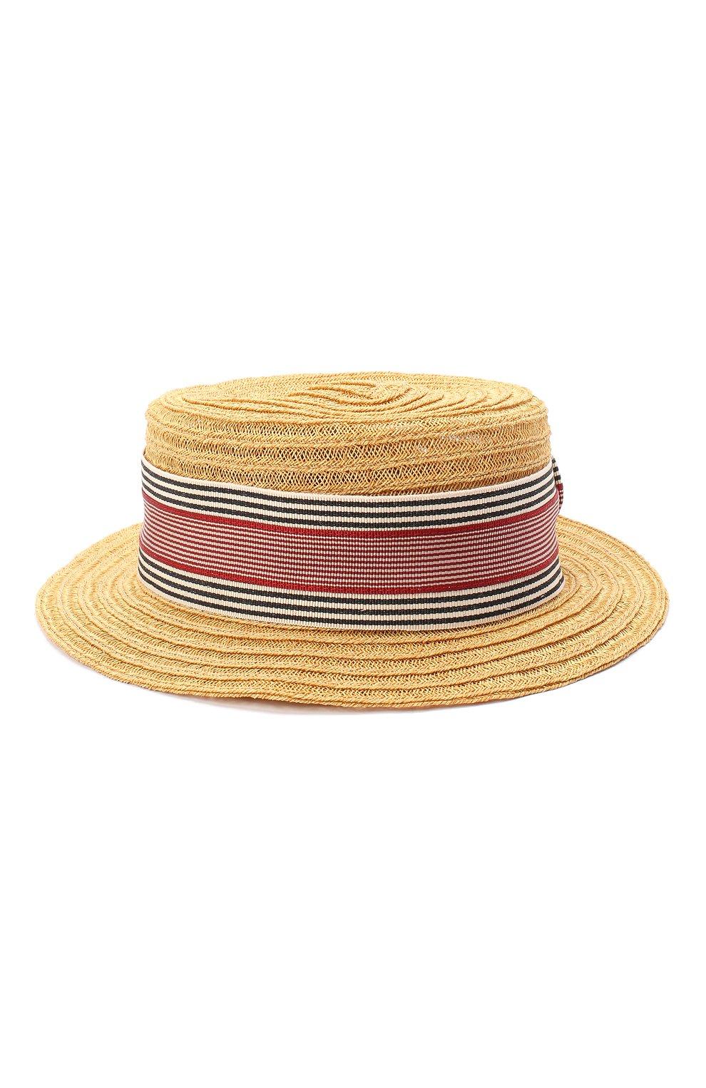 Детская шляпа GREVI темно-бежевого цвета, арт. 6087/TR1125 | Фото 1 (Материал: Растительное волокно)