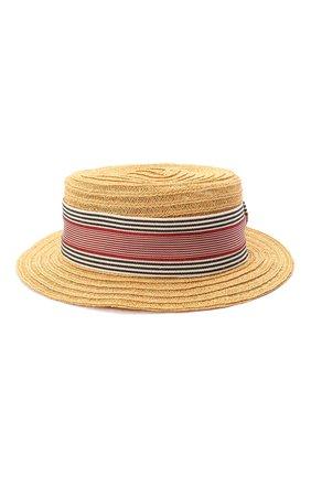 Детская шляпа GREVI светло-коричневого цвета, арт. 6087/TR1125 | Фото 1