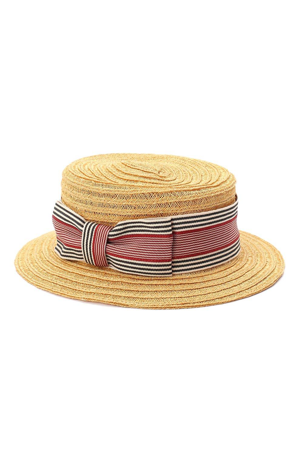 Детская шляпа GREVI темно-бежевого цвета, арт. 6087/TR1125 | Фото 2 (Материал: Растительное волокно)