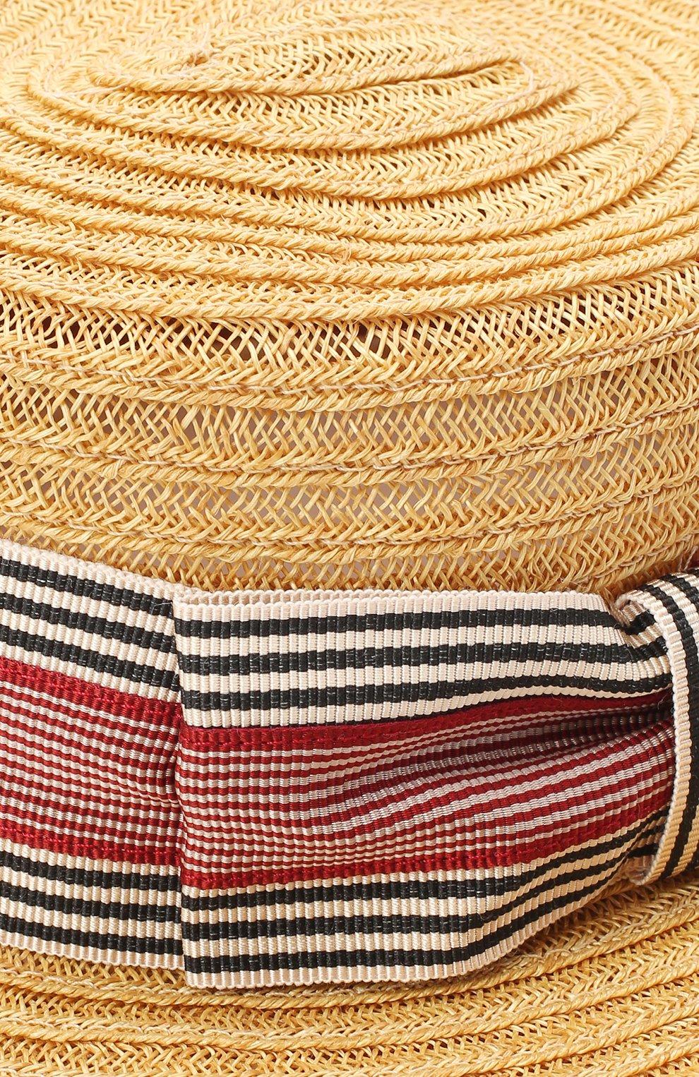 Детская шляпа GREVI темно-бежевого цвета, арт. 6087/TR1125 | Фото 3 (Материал: Растительное волокно)