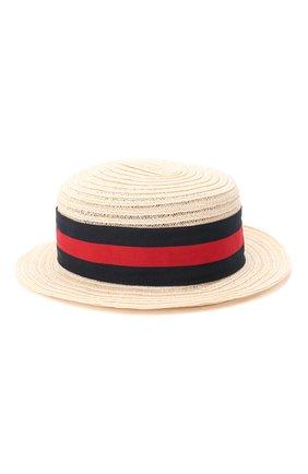 Детская шляпа GREVI светло-бежевого цвета, арт. 6087/TR1125 | Фото 1