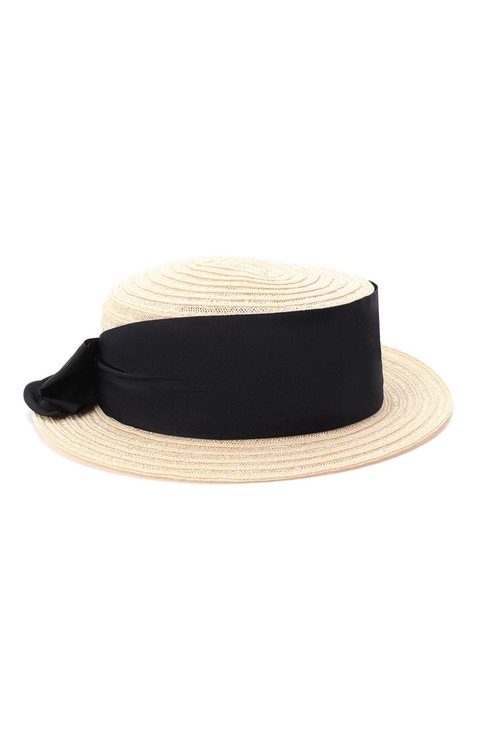 Детская шляпа GREVI светло-бежевого цвета, арт. 16087/TR1125 | Фото 1 (Материал: Растительное волокно)
