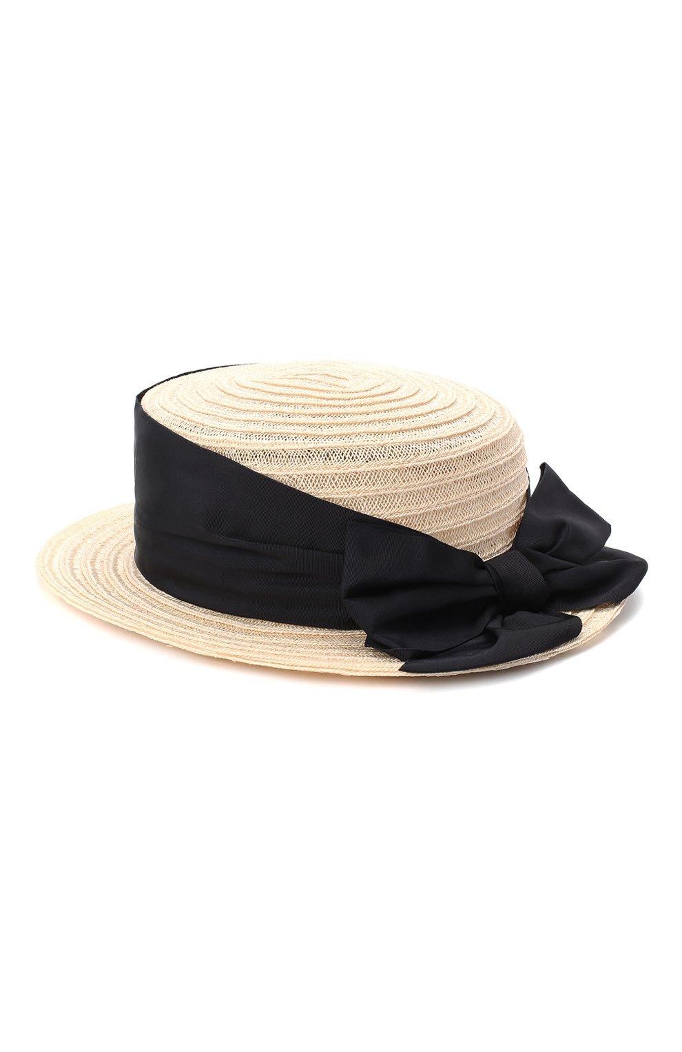 Детская шляпа GREVI светло-бежевого цвета, арт. 16087/TR1125 | Фото 2 (Материал: Растительное волокно)