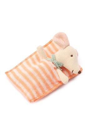 Детского игрушка новорожденная мышка MAILEG бежевого цвета, арт. 16-9710-01 | Фото 1