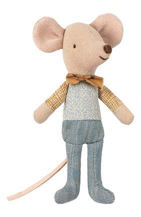 Детского игрушка мышонок младший брат MAILEG бежевого цвета, арт. 16-9721-01   Фото 1