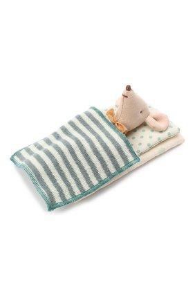 Детского игрушка мышонок младший брат MAILEG бежевого цвета, арт. 16-9721-01   Фото 2