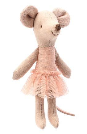 Детского игрушка мышка младшая сестра балерина MAILEG бежевого цвета, арт. 16-8722-00 | Фото 1