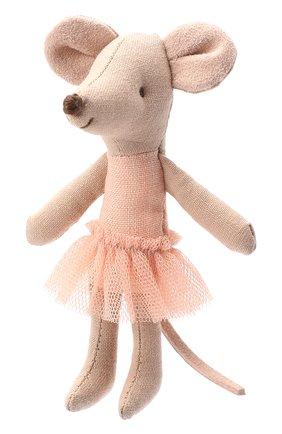 Детского игрушка мышка младшая сестра балерина MAILEG бежевого цвета, арт. 16-8722-00 | Фото 2