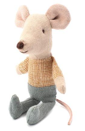 Детского игрушка мышонок младший брат MAILEG бежевого цвета, арт. 16-8725-01 | Фото 1