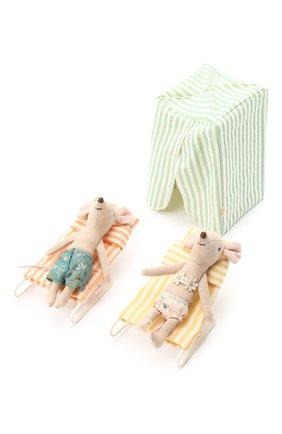 Детского игрушка мыши в отпуске MAILEG бежевого цвета, арт. 16-8735-01 | Фото 1