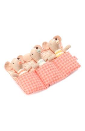 Детского игрушка мышата тройняшки MAILEG бежевого цвета, арт. 16-0710-01 | Фото 1
