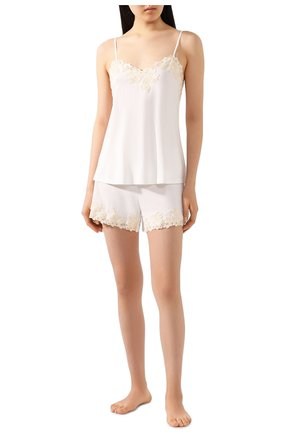 Женские шорты LA PERLA белого цвета, арт. 0047840 | Фото 2