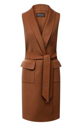 Женский кашемировый жилет LORO PIANA светло-коричневого цвета, арт. FAG3518 | Фото 1